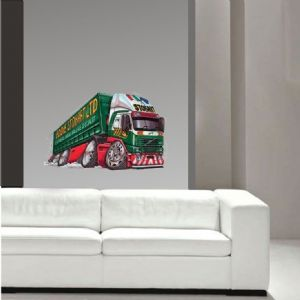 Koolart Large 70cm Eddie Stobart Old Volvo FH12 Wall Art